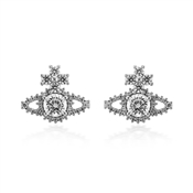 Vivienne Westwood Silver Valentina Orb Earrings