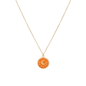 Dirty Ruby Golden Moon Necklace