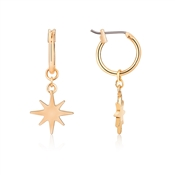 Dirty Ruby Gold North Star Earrings