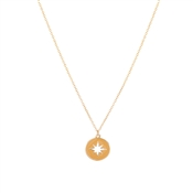 Dirty Ruby Golden Yellow North Star Necklace