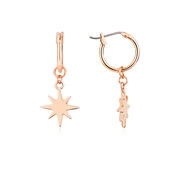 Dirty Ruby Rose Gold North Star Earrings
