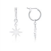 Dirty Ruby Silver North Star Earrings