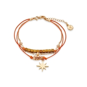 Dirty Ruby Orange Star Layered Bracelet