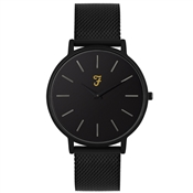 Farah Slim Jim Black Mesh + Black Dial Watch