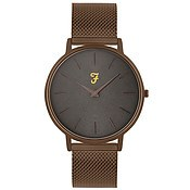 Farah Slim Jim Bronze Mesh + Grey Dial Watch