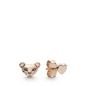 Pandora Lion Princess & Heart Stud Earrings