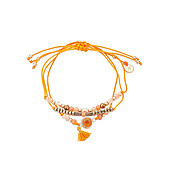 Dirty Ruby Orange Layered Bracelet
