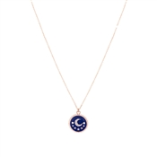 Dirty Ruby Midnight Moon Necklace