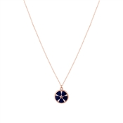 Dirty Ruby Midnight Star Necklace