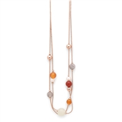 Pilgrim Rose Gold Multi Coloured Rina Necklace