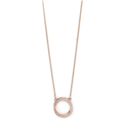 Pilgrim Rose Gold Crystal Twist Circle Necklace
