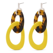 Pilgrim Yellow Tortoiseshell Earrings