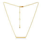 Kate Spade New York Gold Crystal Bar Necklace