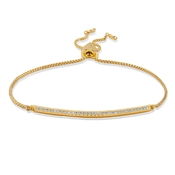 Kate Spade New York Gold Crystal Slider Bracelet