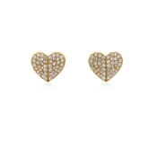 Kate Spade New York Gold Crystal Heart Earrings