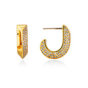 Kate Spade New York Gold Crystal Huggie Earrings