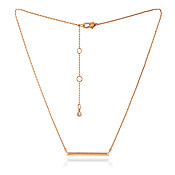 Kate Spade New York Rose Gold Crystal Bar Necklace