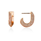 Kate Spade New York Rose Gold Crystal Huggie Earrings