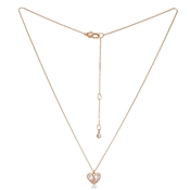 Kate Spade New York Rose Gold Crystal Heart Necklace