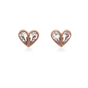 Rose Gold Crystal Heart Earrings by Kate Spade New York