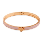 Kate Spade New York Pink + Rose Gold Spade Bangle