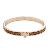 Kate Spade New York Rose Gold Glitter Spade Bangle