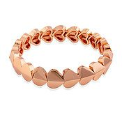 Kate Spade New York Rose Gold Heart Stretch Bracelet