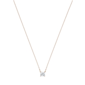 Swarovski Attract Rose Gold Square Necklace