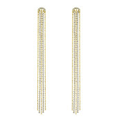 Swarovski Fit Gold Tassel Earrings