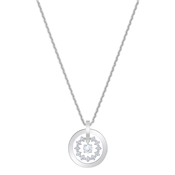 Swarovski Further Silver Circle Necklace
