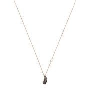 Swarovski Naughty Black + Rose Gold Feather Necklace
