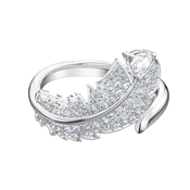 Swarovski Nice Silver Feather Ring