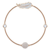Swarovski Remix Collection Naughty Rose Gold Feather Large