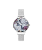 Olivia Burton Under The sea Silver Boucle Mesh Watch