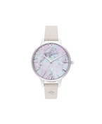 Olivia Burton Celestial Silver Star Mother Of Pearl Watch
