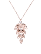 Ted Baker Rose Gold Angel Leaf Necklace