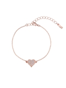 Ted Baker Rose Gold Hidden Heart Bracelet