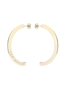 Ted Baker Gold Logo Half Hoop Earrings