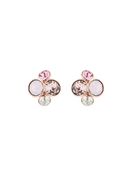 Ted Baker Pink Crystal Cluster Earrings