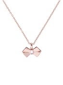 Rose Gold Solitaire Bow Necklace by Ted Baker