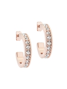 Ted Baker Small Rose Gold Crystal Hoop Earrings