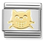 Nomination Smiling Cat Charm