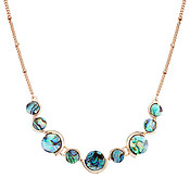 August Woods Rose Gold Abalone Circle Necklace