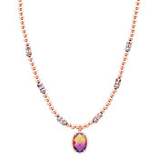 August Woods Rose Gold Beaded Ombre Necklace