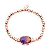 August Woods Rose Gold Ombre Stretch Bracelet