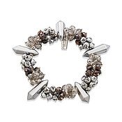 August Woods Silver Power Beaded Bracelet