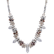 August Woods Silver Power Beaded Necklace