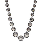 August Woods Silver + Black Dusk Crystal Necklace