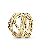 Pandora Shine Swirling Lines Ring