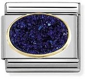 Nomination Midnight Blue Druzy  Charm